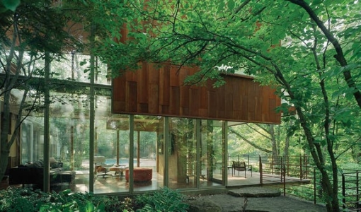 Photo of Arkansas House designed by Marlon Blackwell