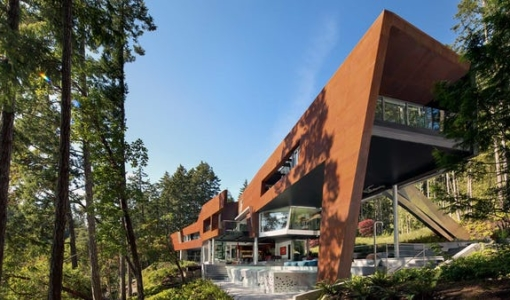 Photo of Photograph of Gulf Islands Residence designed by AA Robins