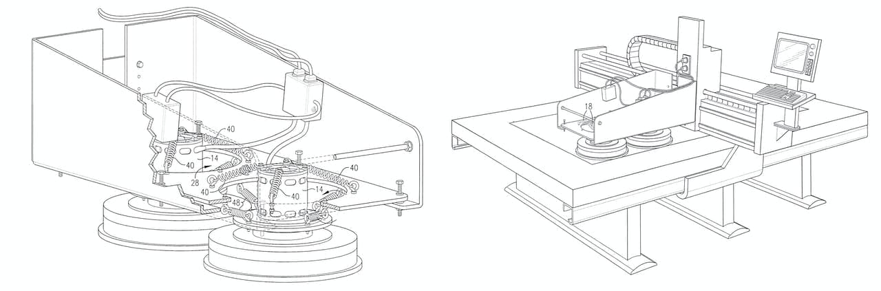 Zahner patent images for Angel Hair® patent system.