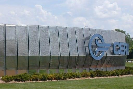Entry signage for Cerner Headquarters.