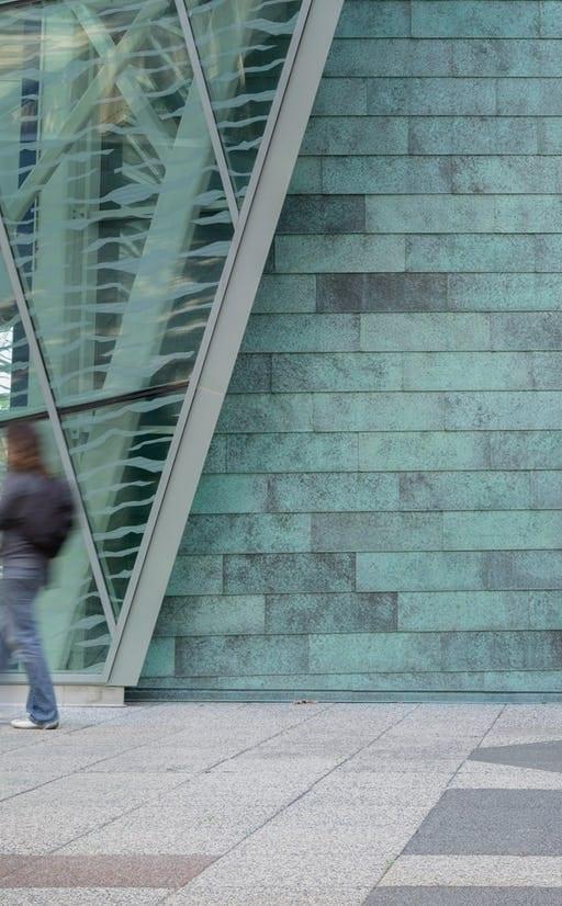 SUNY New Paltz copper facade.