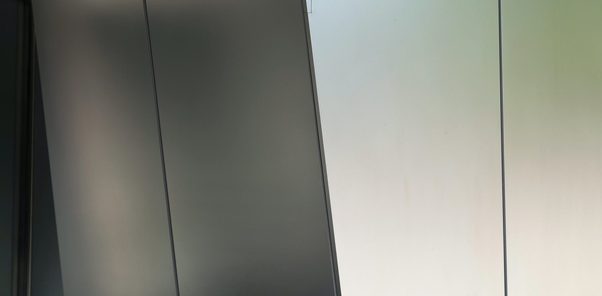 STAINLESS STEEL PLATE WITH GB-60 FINISH USED ON THE IBM HEADQUARTERS IN ARMONK, NEW YORK.