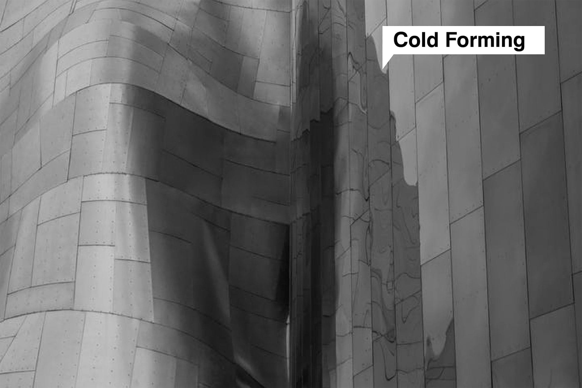 Museum of Pop Culture - Frank Gehry Partners, by A. Zahner Company, 2000.