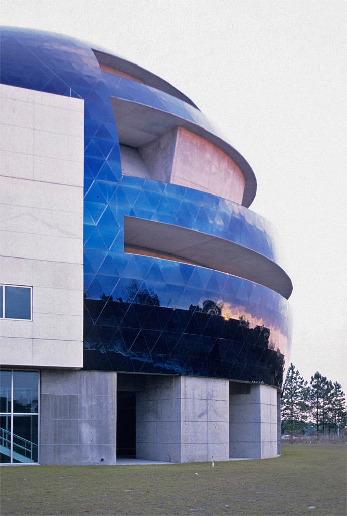 Detail of the MOSI dual-curvature dome panel system in Tampa, Florida.