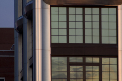 Detail of the 200 Eleventh Ave stainless steel facade.