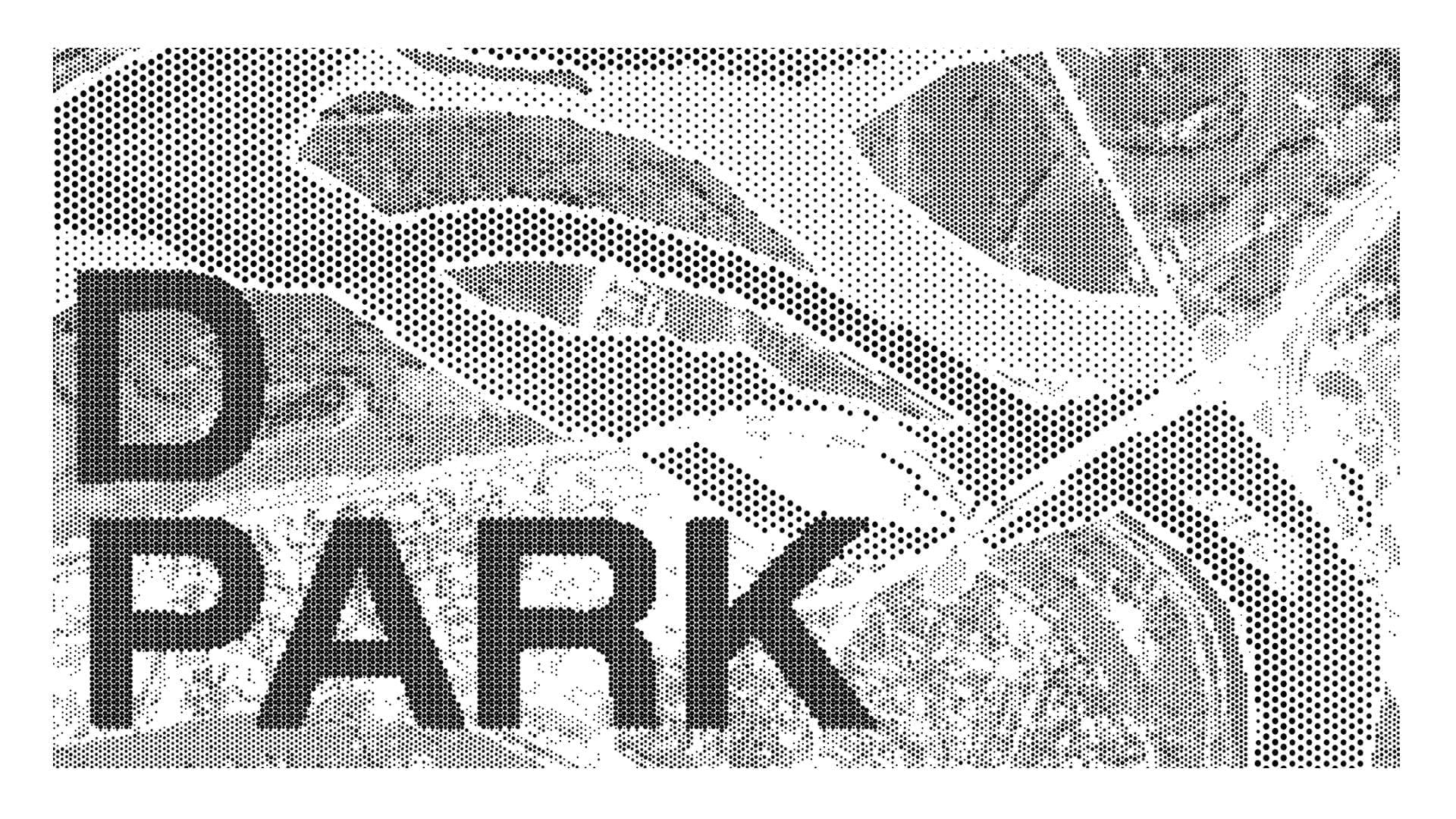 Highland Park Community Center Signage perforation pattern detail.