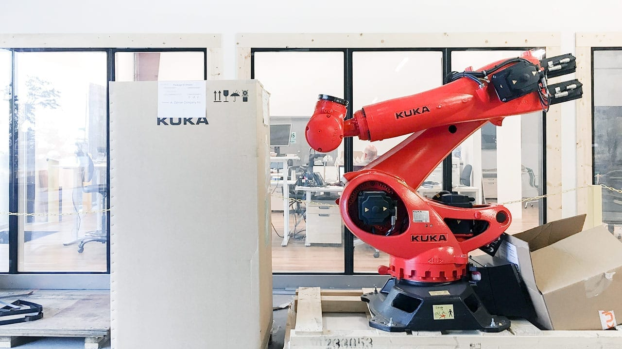 "Meet ""Ruby,"" the Kuka Robot, Zahner's latest addition to the Custom Automation arsenal."