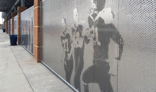 Detail of the Okie Blanchard privacy screens.