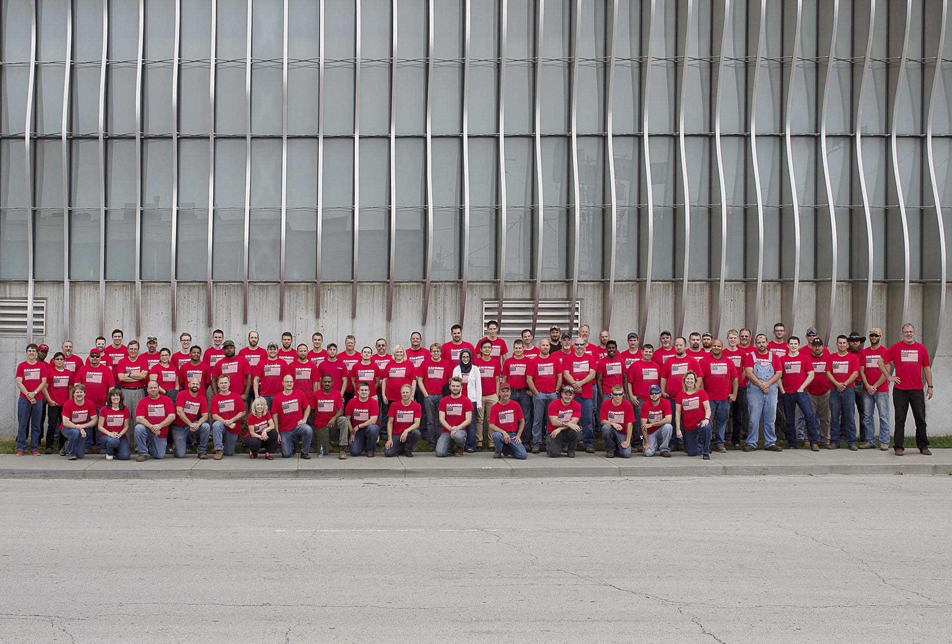Shop and engineering teams at the KC headquarters celebrate the upcoming Independence Day weekend.