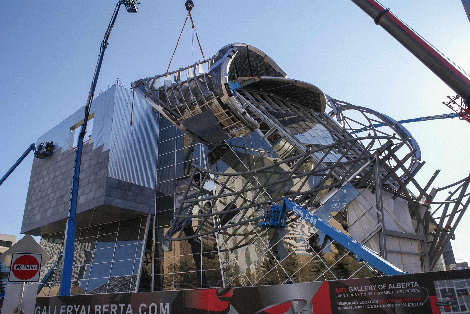 Construction of the AGA in Edmonton, Canada.