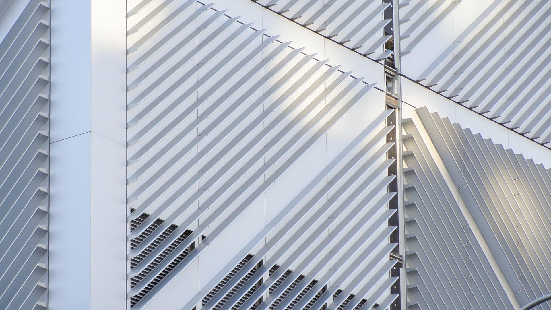 Detail of the aluminum extrusion system facade used on Columbia University.