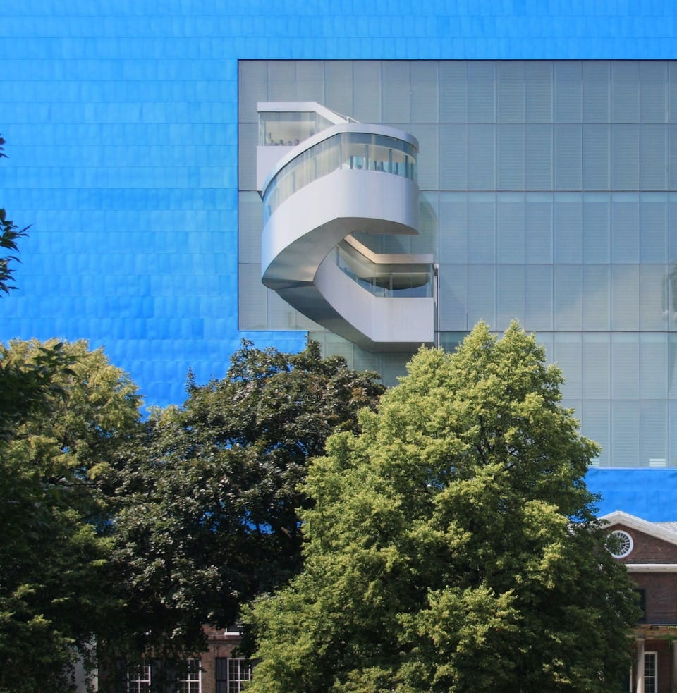 ART GALLERY OF ONTARIO EXTERIOR SPIRAL STAIRCASE DESIGN BY FRANK GEHRY PARTNERS.