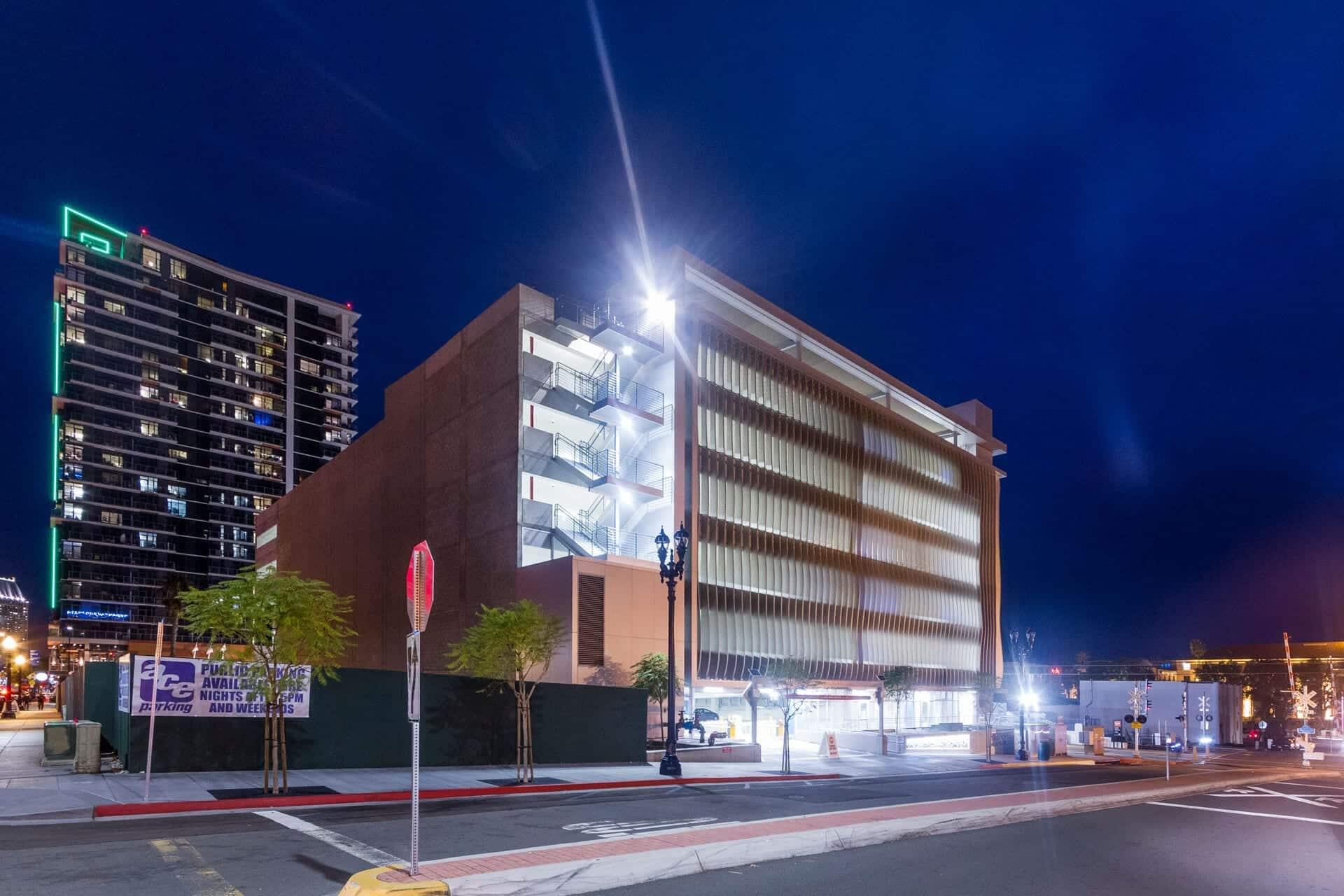 Cedar Kettner Parking Structure in San Diego, California.
