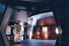 The cone is visible from within the planetarium's interior