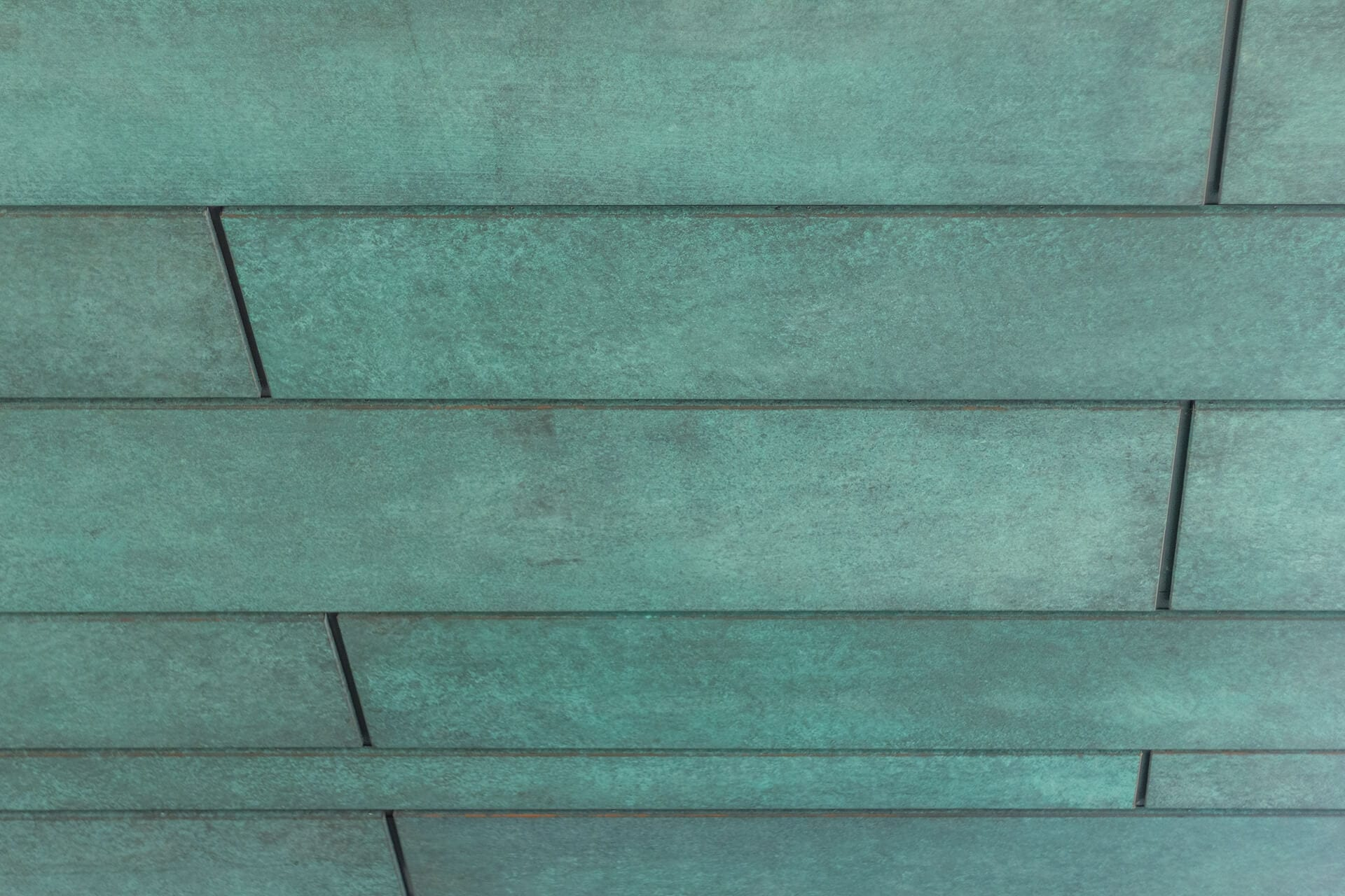 Columbus Museum of Art, detail of the custom copper soffit.