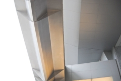 Detail of the stainless steel metalwork on the Dallas Cowboys Stadium.