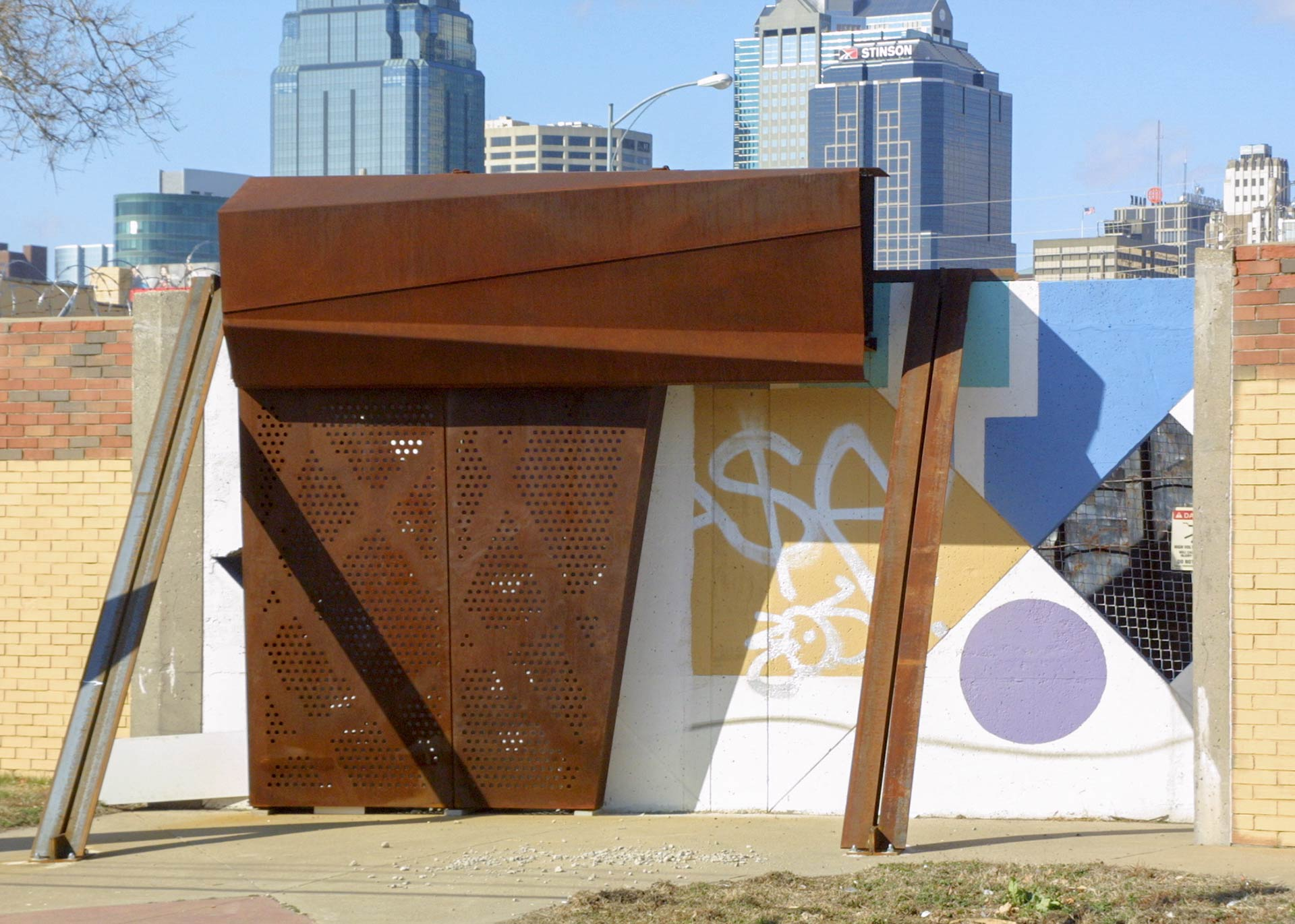 Mockup of Crosstown Substation, installed on-site at the previous park.