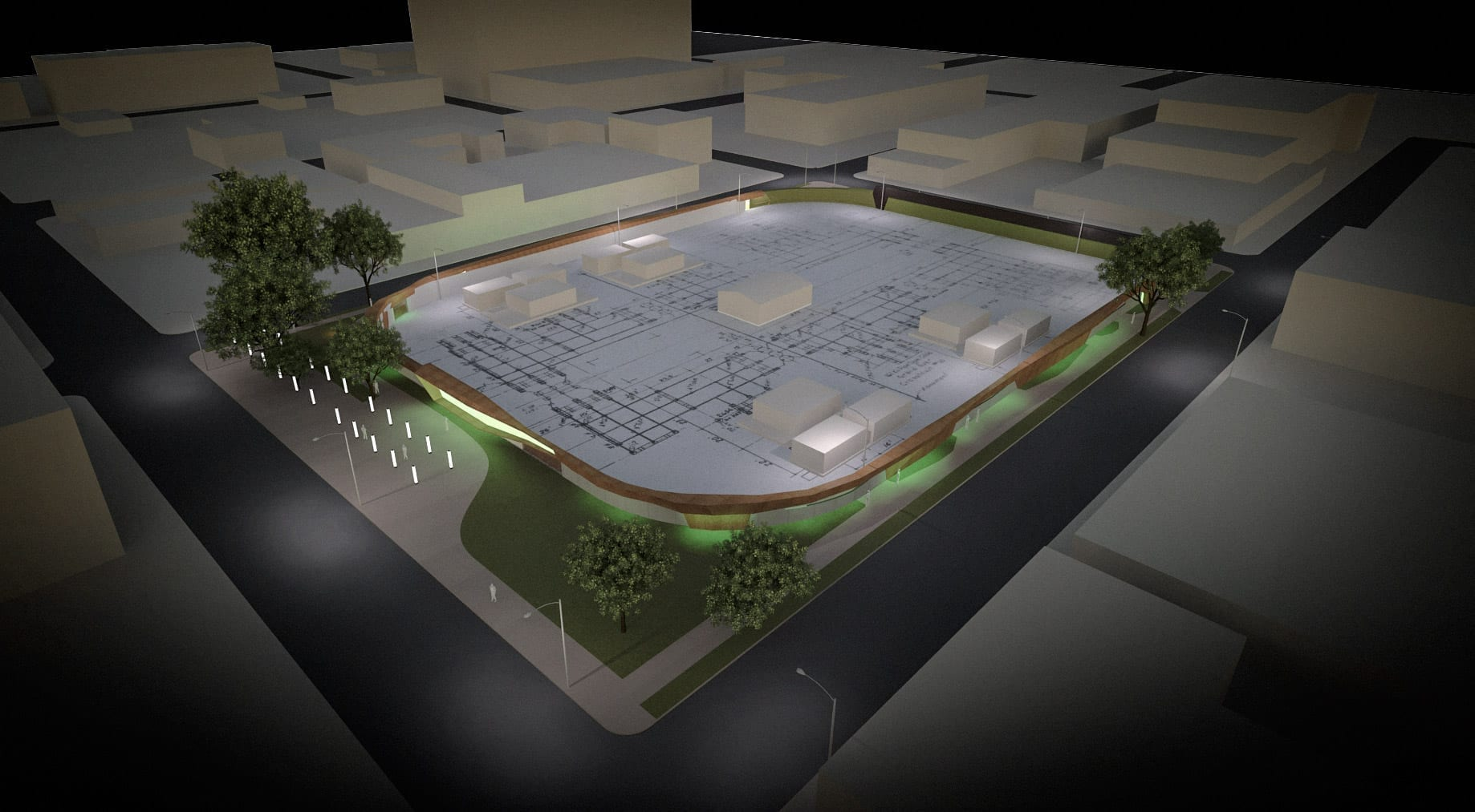Rendering of Crosstown Substation, designed by Pendulum Architects in Kansas City.