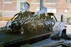 A shipment of the cornices for Harold Washington Library leaves the Zahner shop.