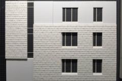 ARO designed a custom shingle layout and created a physical model.