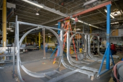 Metal fabricators at Zahner's shop manufacture the window systems for the New York City facade..