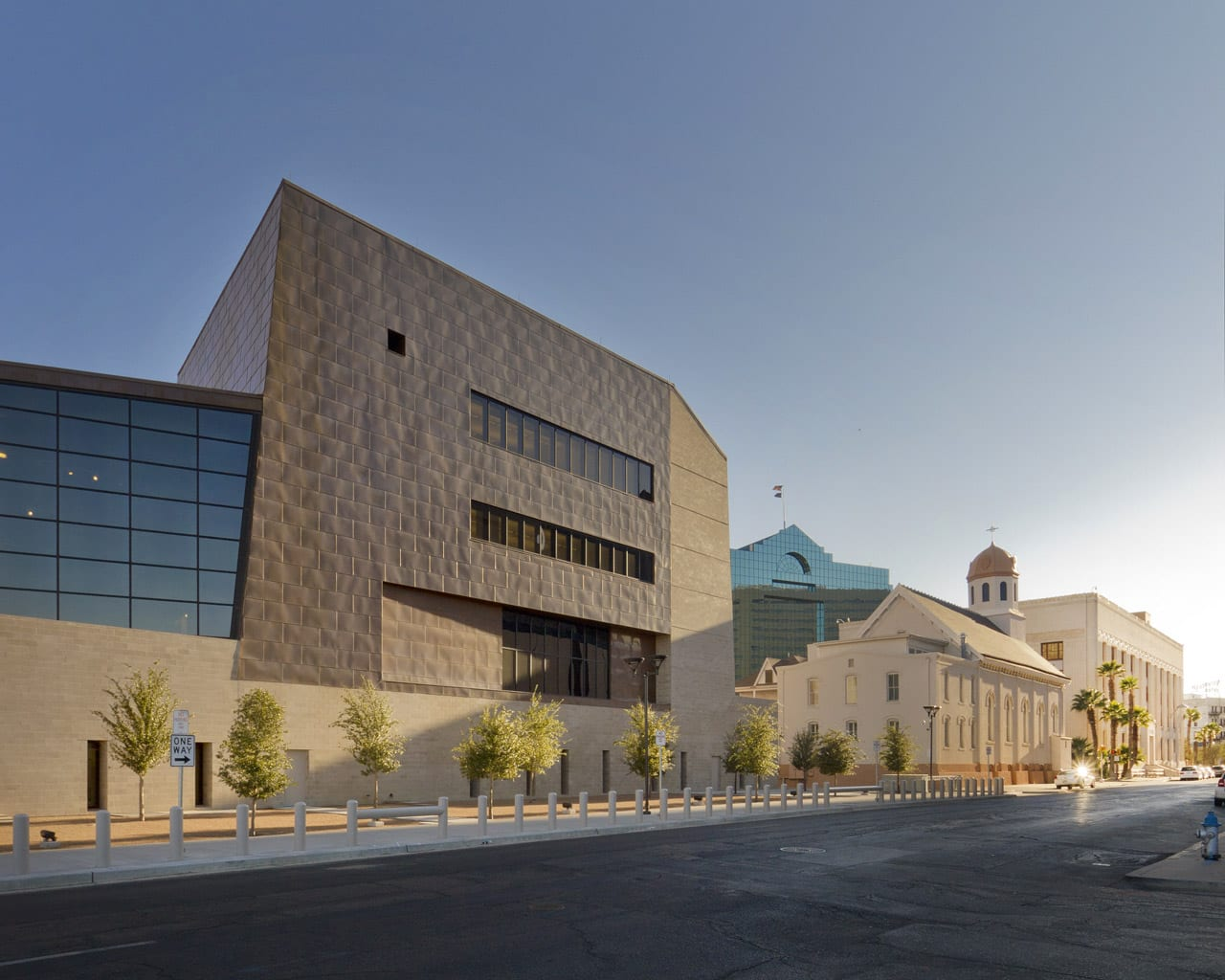 North elevation of the El Paso Federal Courthouse.