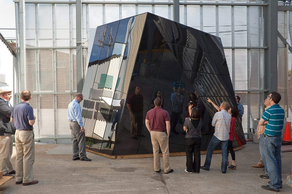 Farshid Moussavi speaks with Zahner engineers about the MOCA Cleveland Mockup.