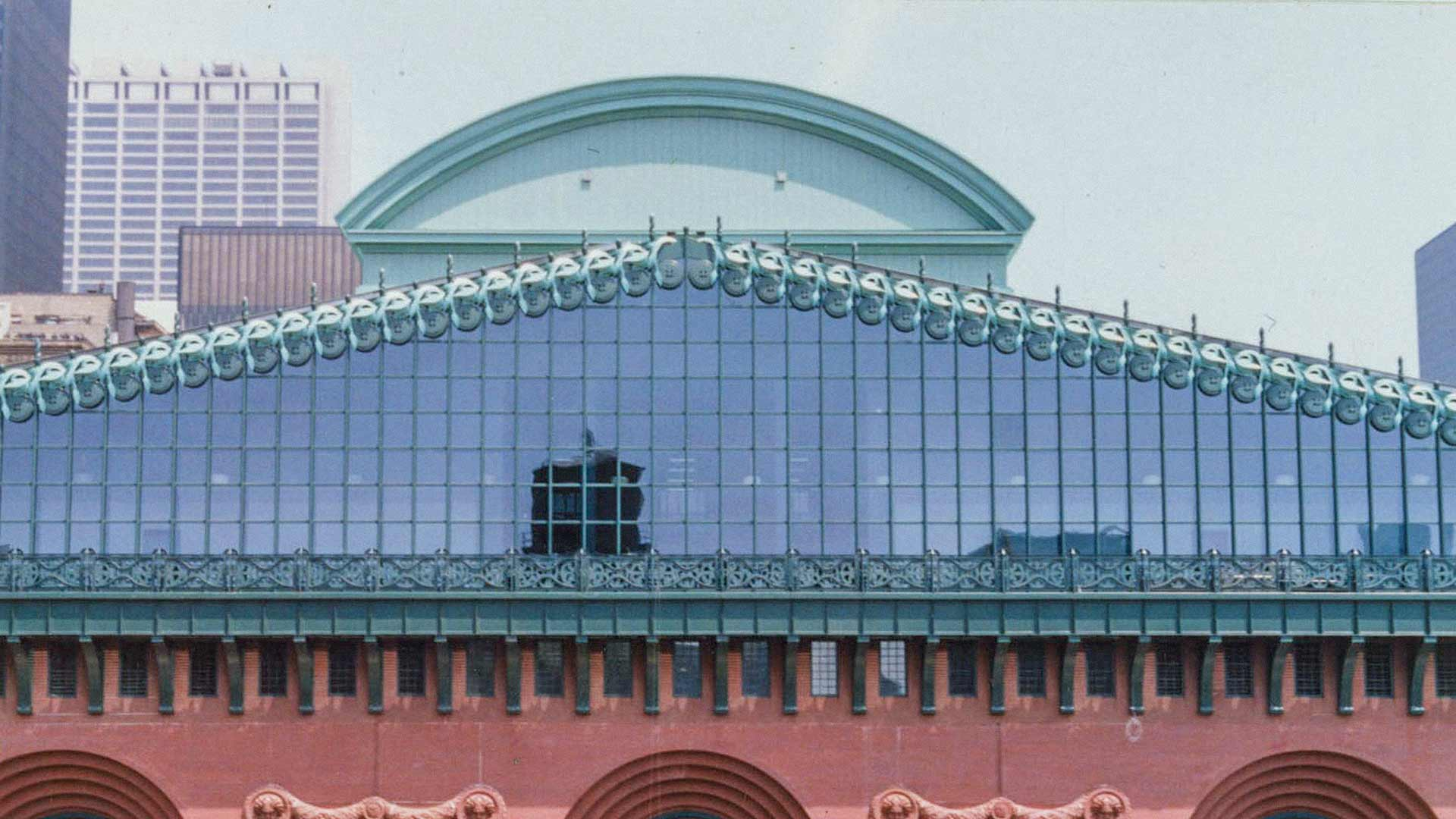 The aluminum cornices for the Harold Washington Library in Chicago, Illinois.