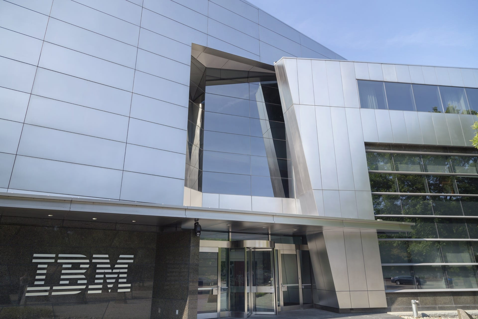 IBM Headquarters Entrance at Armonk, New York.