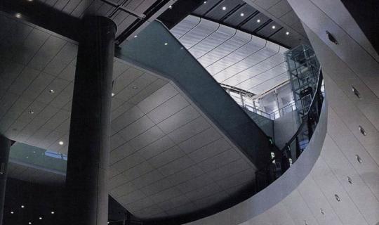 Interior metalwork at Kowloon Station, Hong Kong.