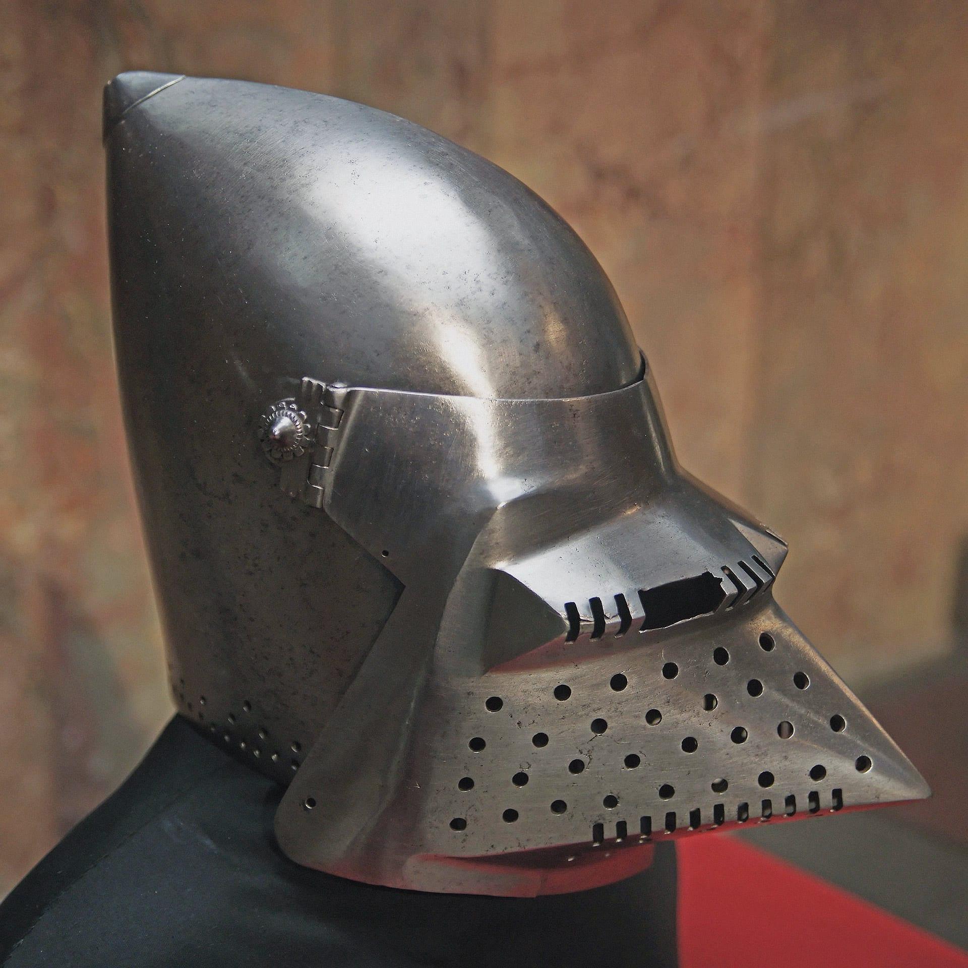 Steel helmet, Milan; C. 1400-1410 CE.