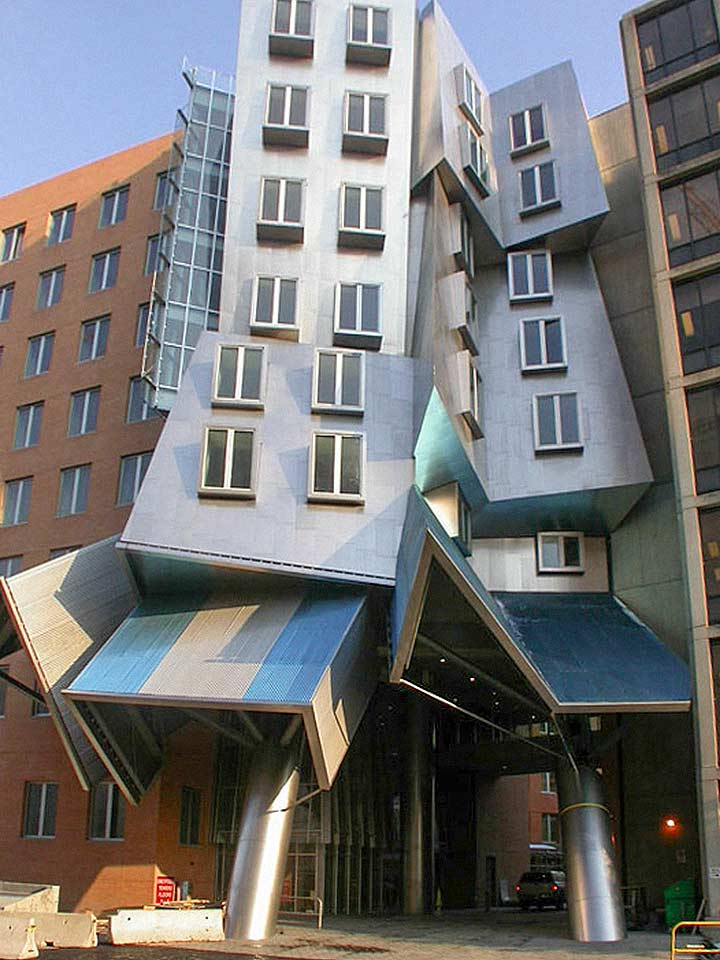 Construction comparison of the MIT Stata Center giraffe building.