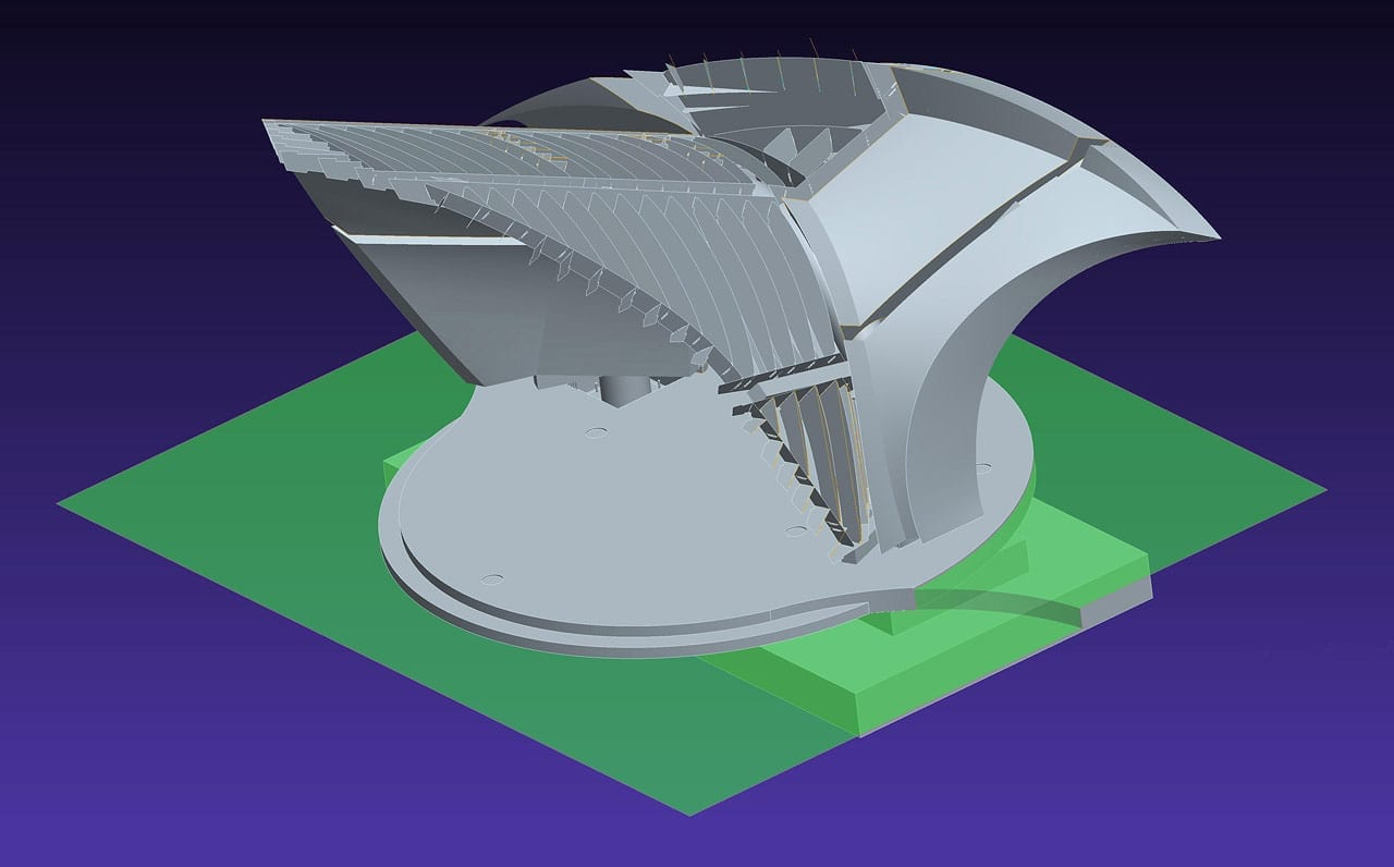 Digital model for the Town Park Pavilion and Bandshell by John Medwedeff