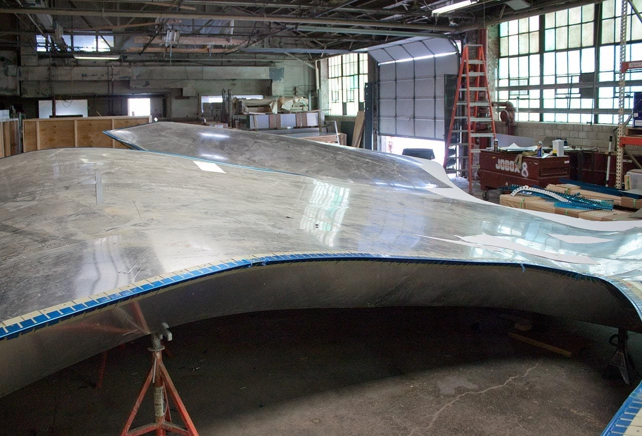 Pre-assembled canopy, prior to skinning the titanium surface.