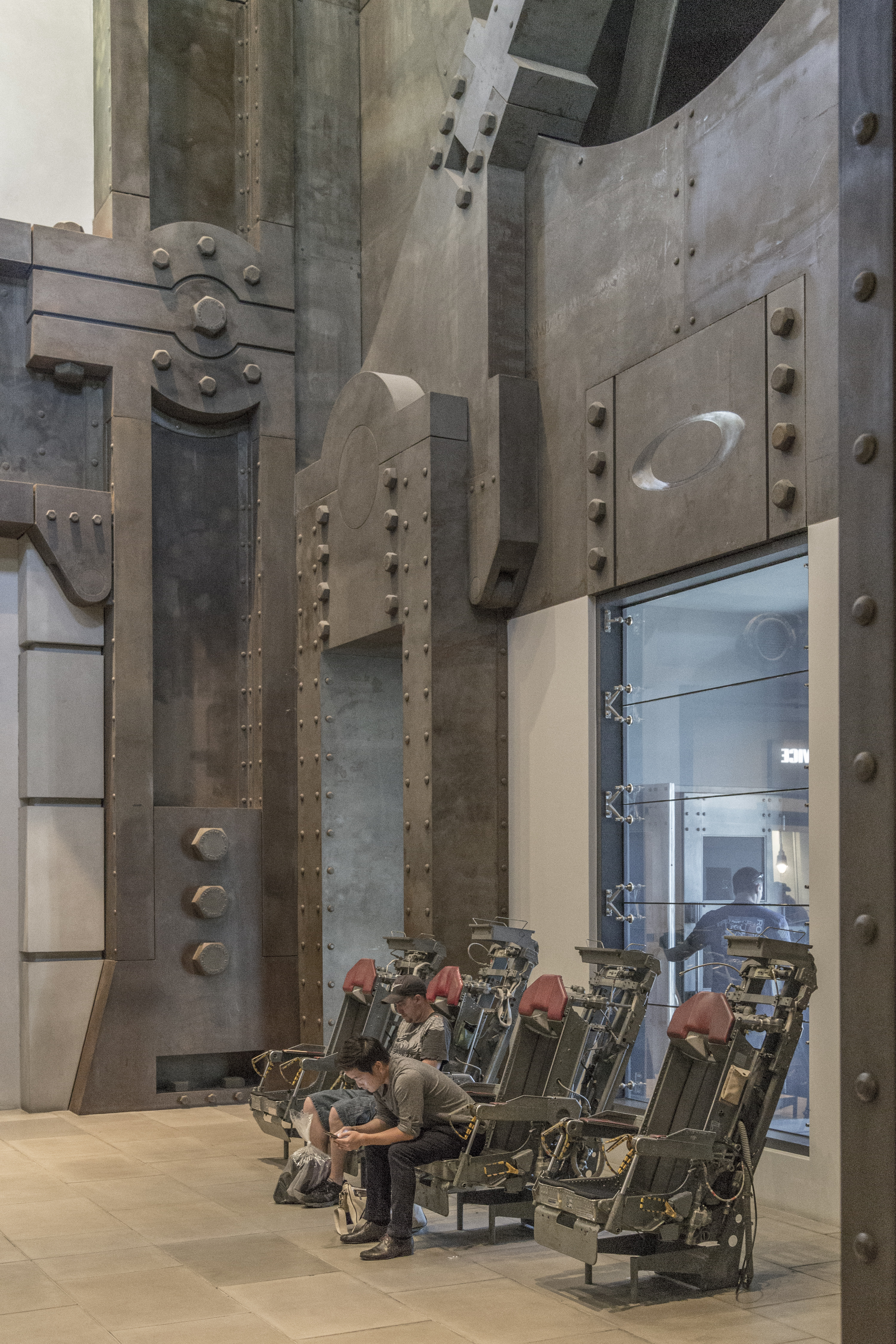 Oakley Headquarters interior metalwork.