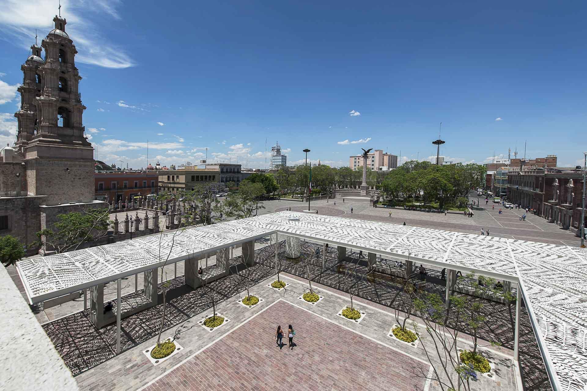 The Patio de las Jacarandas provides a place to gather in Aguascalientes.