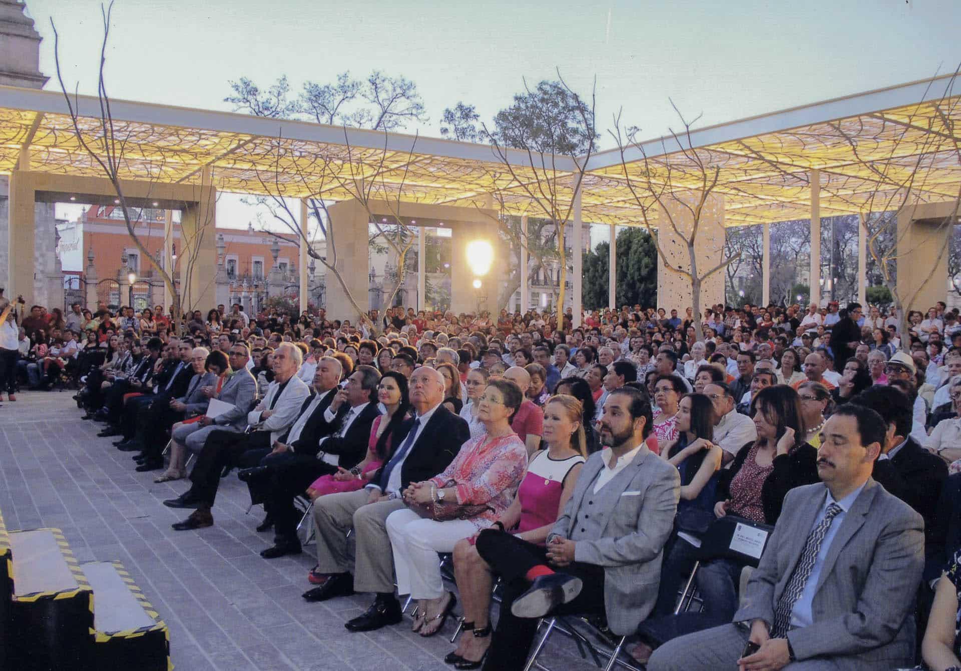Opening gala event for the Patio de las Jacarandas in Aguascalientes, Mexico.