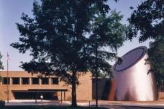 Nathan and Fannye Shafran Planetarium during the day