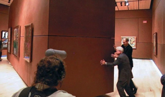 Museum owners display a rotating wall.