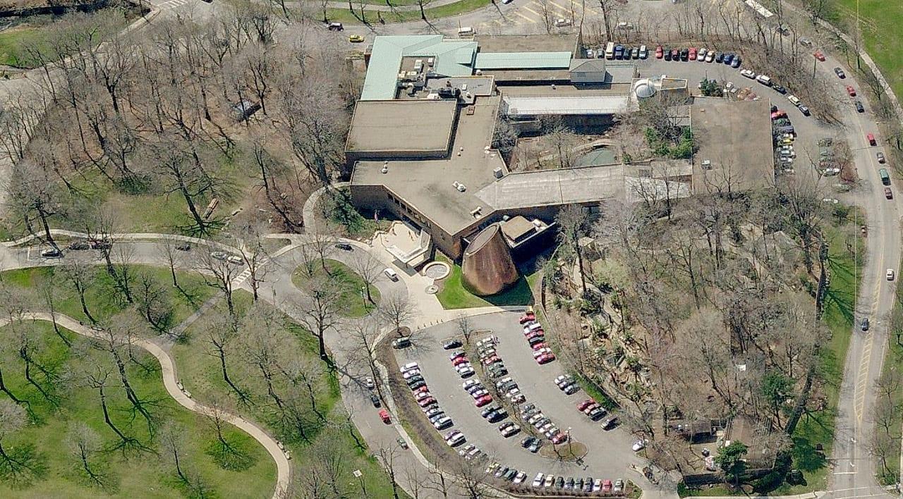 Aerial view of the Shafran Planetarium