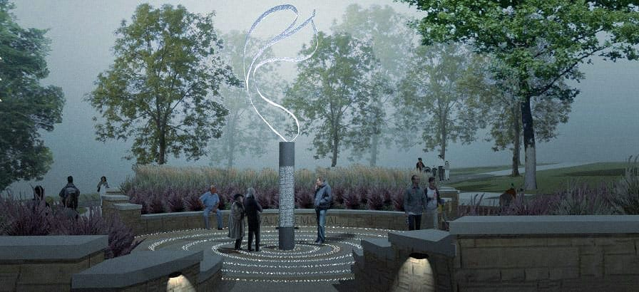 Rendering of the Hyatt Memorial Sculpture