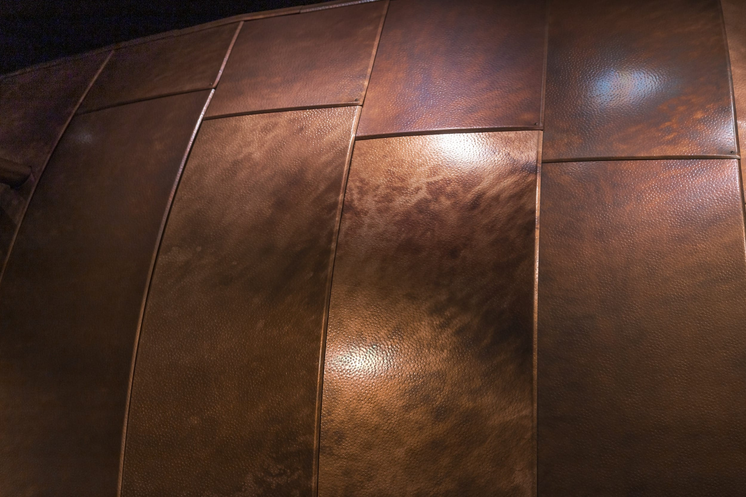 Facade for 178 North Eleventh with antique copper patina in Brooklyn, New York.
