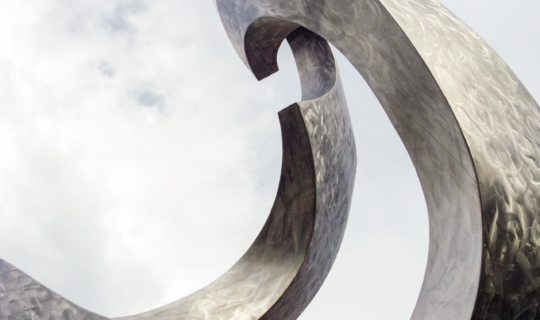 Detail of the Hope for Life sculpture in Kansas City.