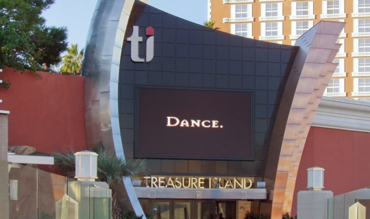 View of Treasure Island in Las Vegas.