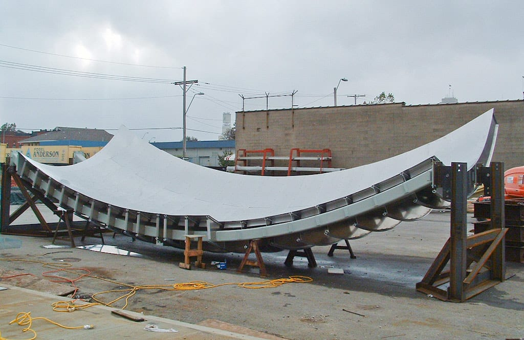 View of Treasure Island after Aluminum sub-surface has been secured.