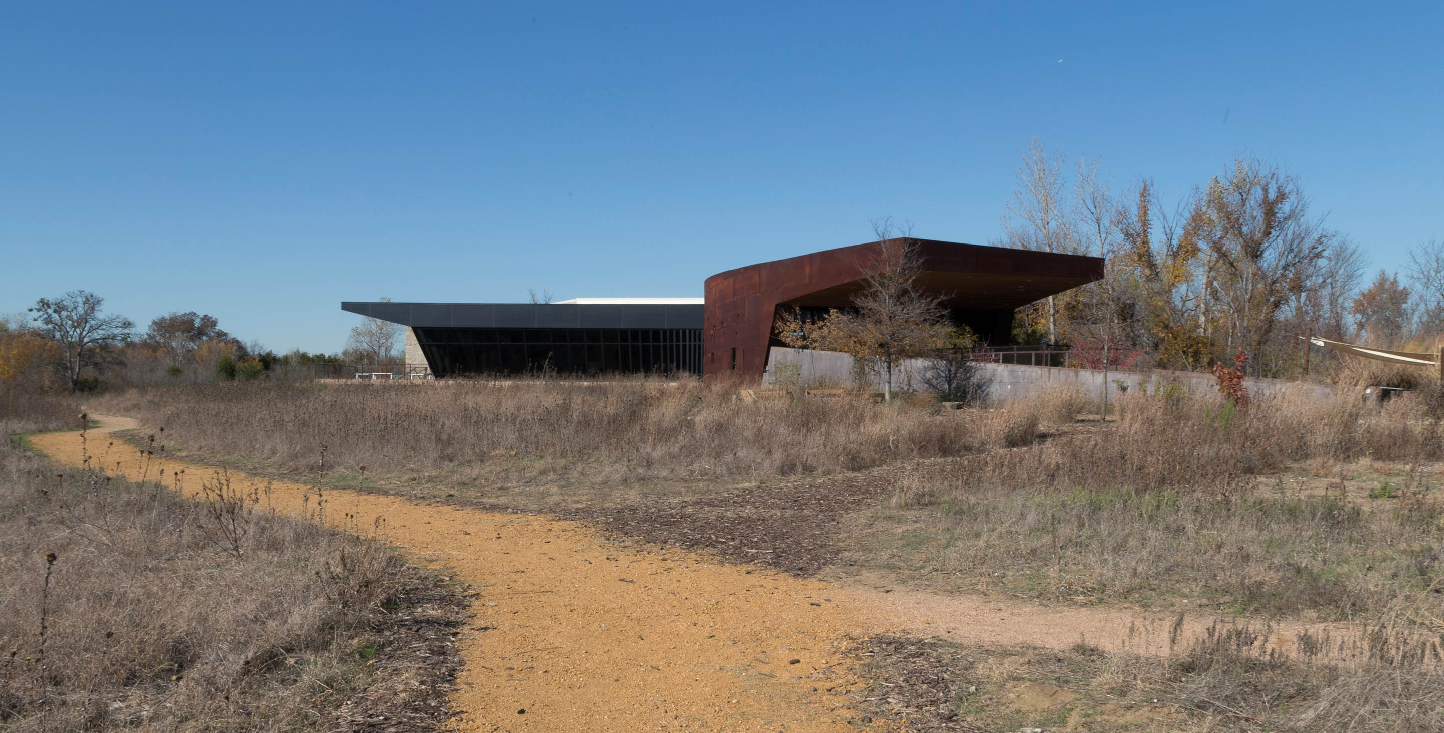 South entrance for the Trinity River Audubon Center.