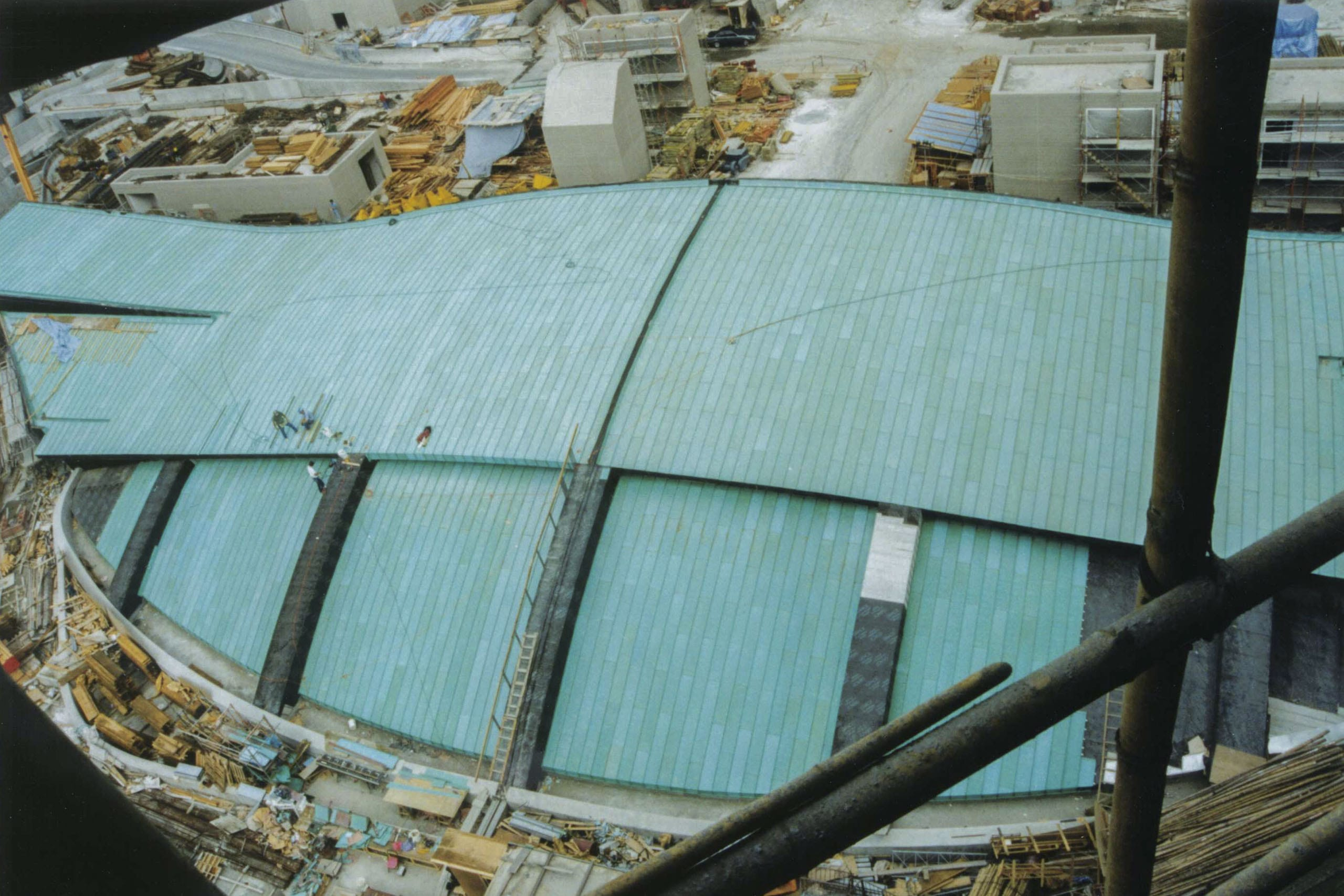 Installers complete the Tsing Yi Terminal Roof in Hong Kong.