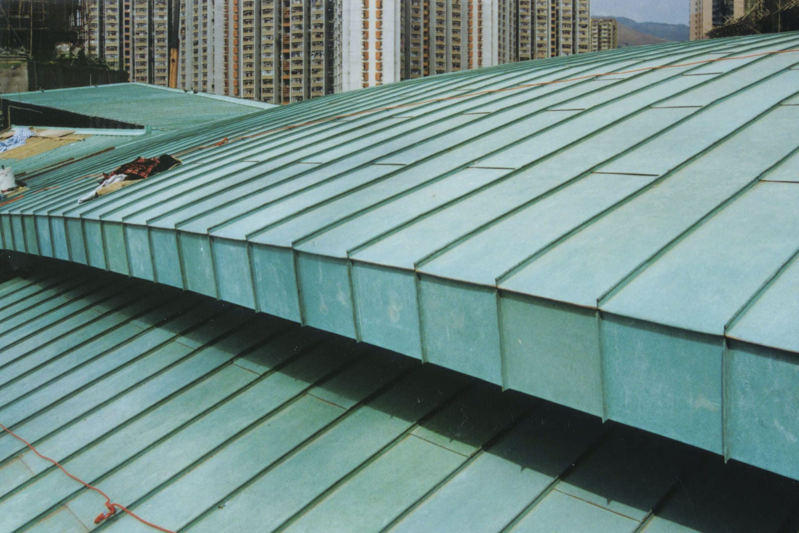 Tsing Yi Station Terminal Roof includes custom fascia and flashing.