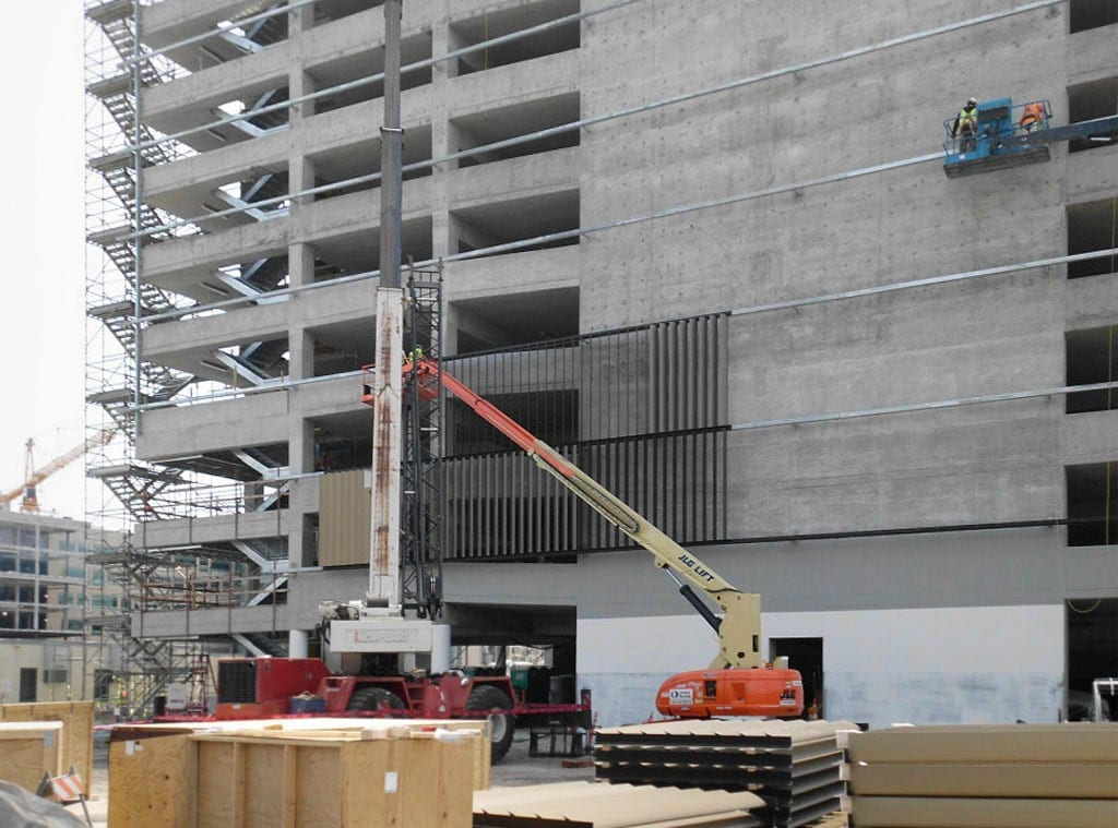 UCSF Mission Bay Medical Garage in Construction.