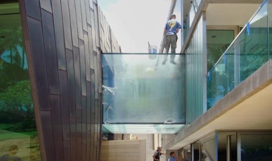 Photo of the Waipolu Gallery facade during construction